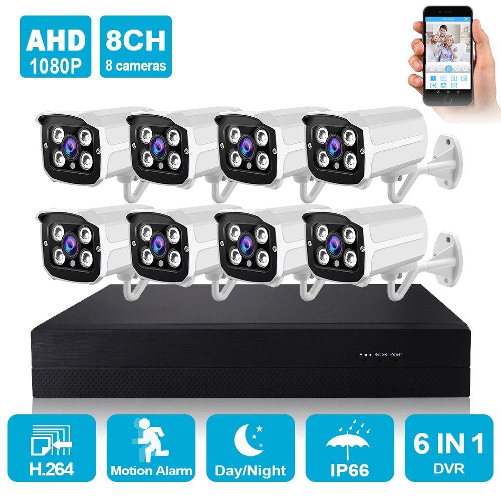 4CH 8CH AHD DVR 1080P CCTV Camera Security System Kit 2 0MP IR Night Vision Home