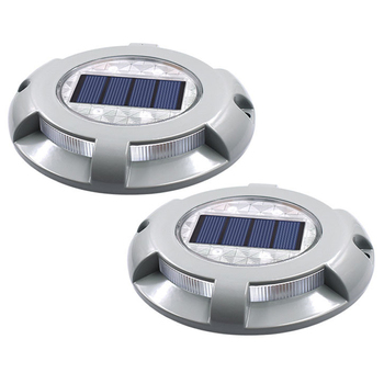 Thrisdar 4PCS Solar Driveway Light Outdoor LED Deck Dock Light Outdoor Waterproof Garden Pathway Step Walkway Road Markers
