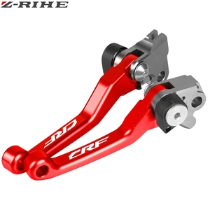 Image 5 - Motocicleta cnc boleto dobrável pivô embreagem alavanca do freio punho para honda crf150f crf230f 2003 17 crf250r 2007 18 crf f bicicleta da sujeira