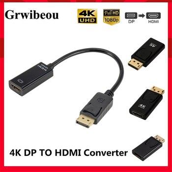 4K адаптер с портом дисплея на HDMI совместимый преобразователь порта дисплея штекер DP на гнездо HD ТВ кабель адаптер видео аудио для ПК ТВ|Кабели HDMI|   | АлиЭкспресс