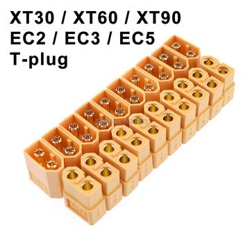 10 par XT30 XT30U XT60 XT60H XT90 EC2 EC3 EC5 wtyczka T złącze baterii zestaw mężczyzna kobieta pozłacany wtyk bananowy dla części do zdalnego sterowania tanie i dobre opinie Readytosky CN (pochodzenie) Materiał kompozytowy FRAME Złącza okablowania Pojazdów i zabawki zdalnie sterowane Wartość 5