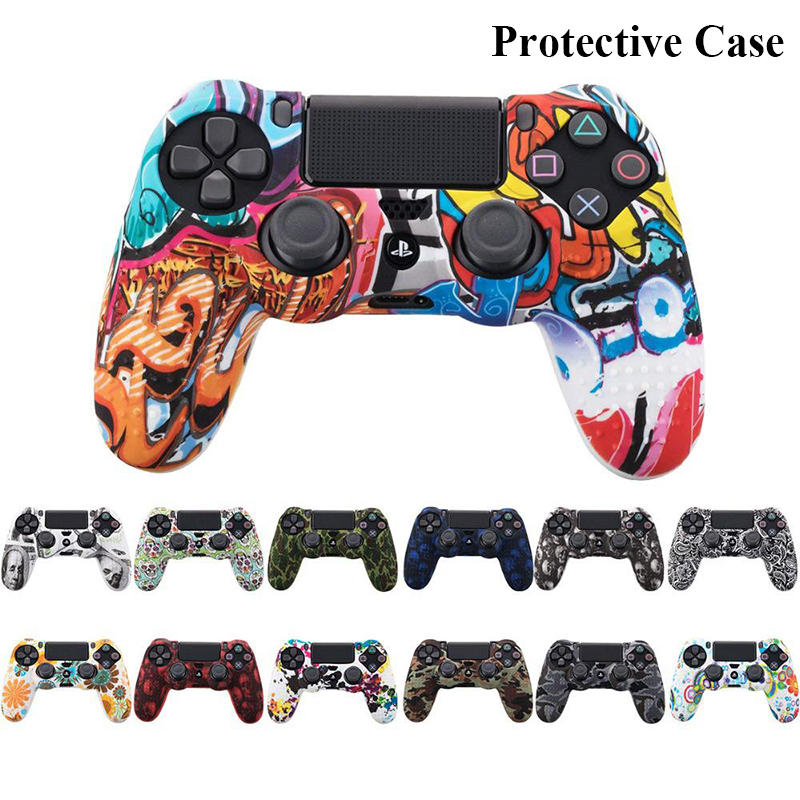Kuulee Silicon Protection Case Anti-slip For Sony PS4 Slim/Pro Controller Cover Case For Dualshock 4 Switch Games Accessories