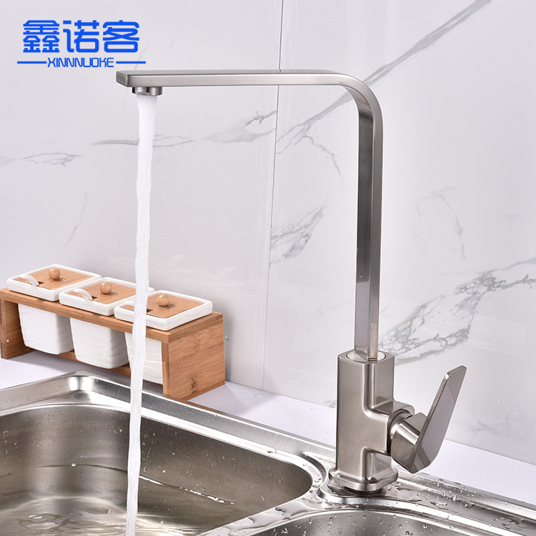 New Style Bathroom Sanitary Ware Cold Kitchen Faucet Rotating Kitchen Faucet Wholesale Wrench Single Connection-Mixing Faucet