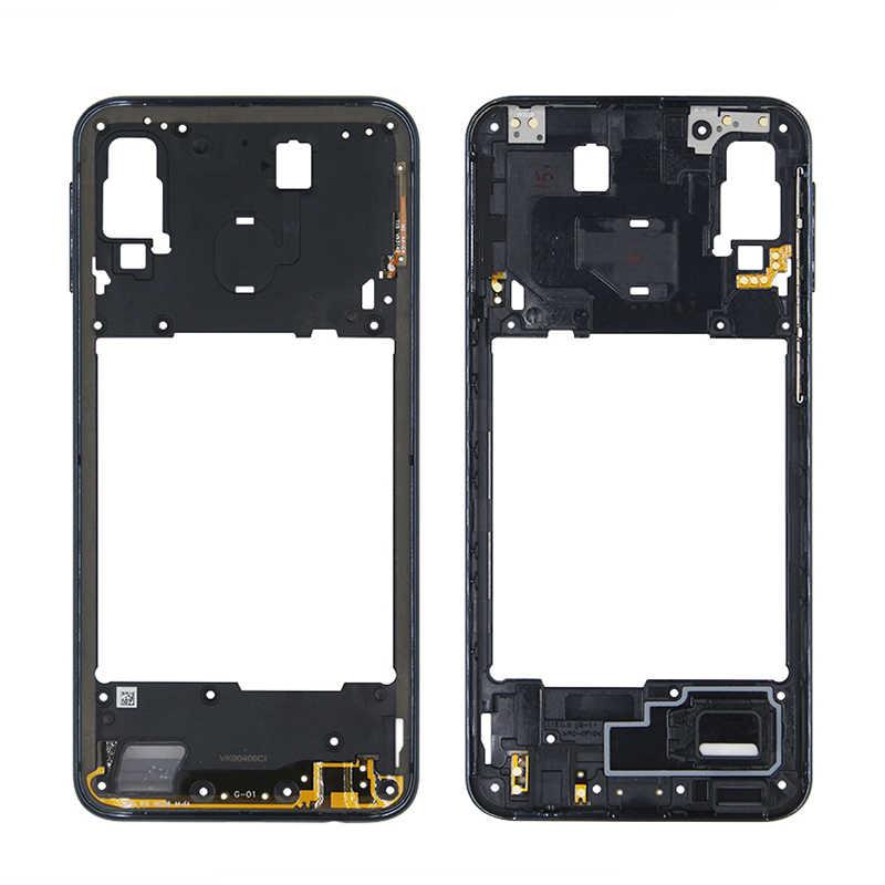 Pièces de rechange de cadre de cadre moyen de logement pour le couvercle de plaque moyenne de Samsung Galaxy A20 A30 A40/A210 A50