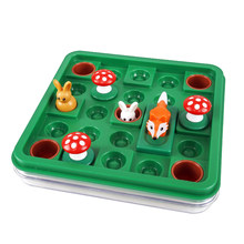 Jumpin rabbit smart game visual perception Portable Table Puzzle toy Memory Training Place the level to move the block through t