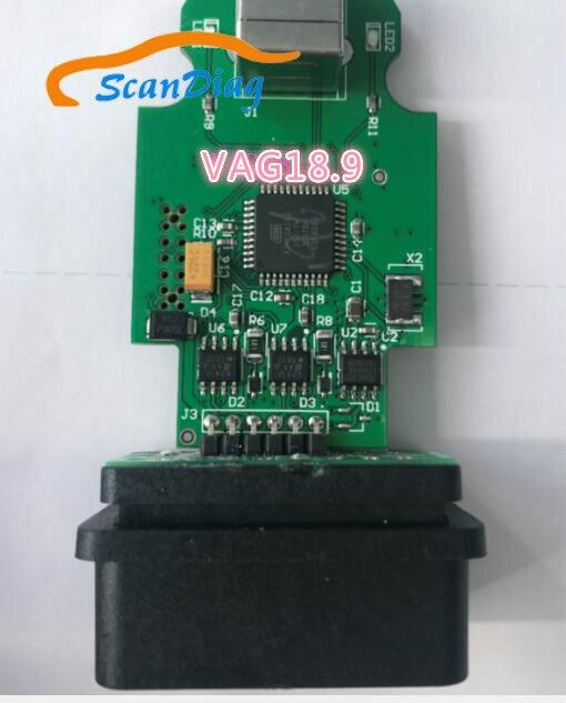 Hex v2 vag com cable18.9 e 19.6 para vw para audi para seat para skoda obd scanner atualização livre site oficial