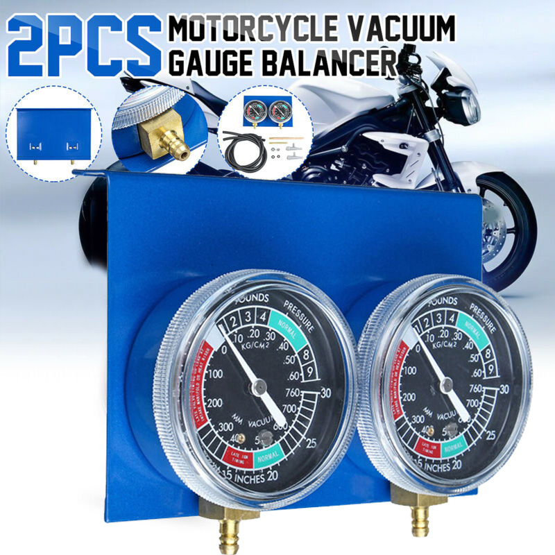 2*Motorcycle Carburetor Vacuum Gauge Balancer Synchronizer Tool W/Hose Kit Brand New And High Quality