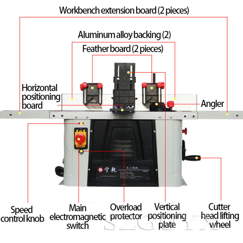 Деревообрабатывающий фрезерный станок деревообрабатывающий станок Настольный обрезной станок Электрический деревообрабатывающий и складной гравировальный станок - 5