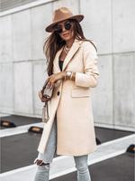 Cappotti da donna semplici autunnali e invernali cappotti da donna in tinta unita con bottoni in lana a maniche lunghe cappotti da donna