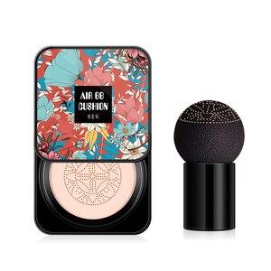 Invisible Pore Acne BB Cream Lasting Waterproof Brighten Air Cushion + Skin-friendly Mushroom Head Foundation Makeup Brush TSLM2