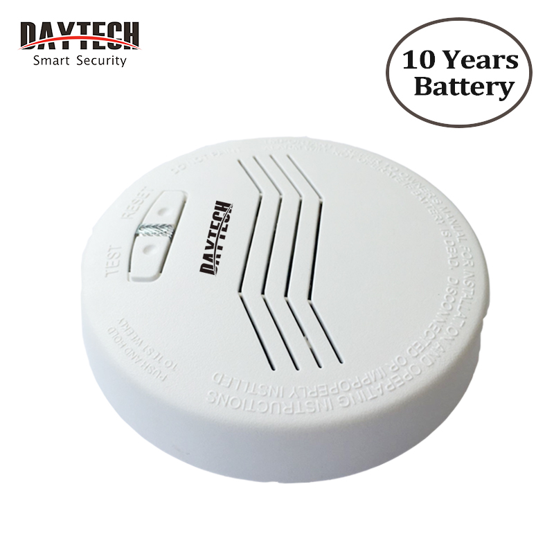 DAYTECH Wireless Smoke Detector Battery Photoelectric Smoke Fire Alarm 433Mhz 80dB Can Work With Daytech Home Alarm System