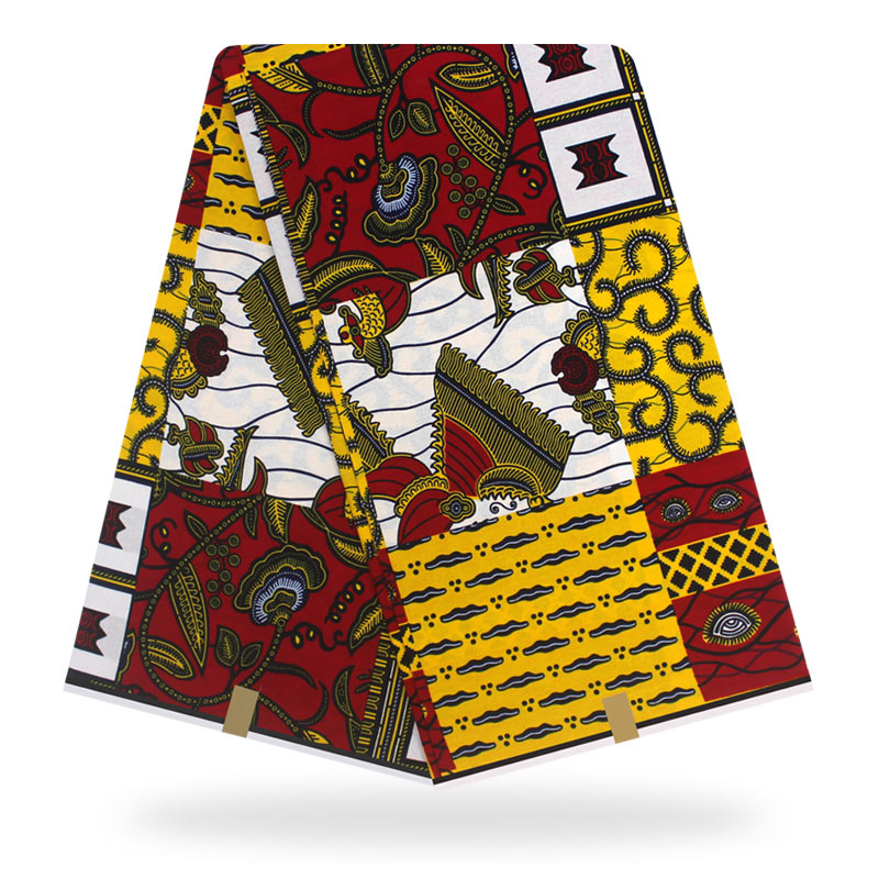 100% Cotton Fabrics For Dress Wholesale African Fabric Ankara African Wax Sewing Dress African Nigerian Style Wax Material