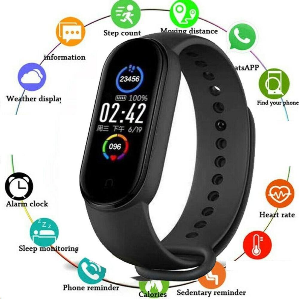 M5 Smart Watch Waterproof IP67 Sport Smartwatch Heart Rate Blood Pressure Sleep Fitness Tracker Watch Bracelet For Android IOS