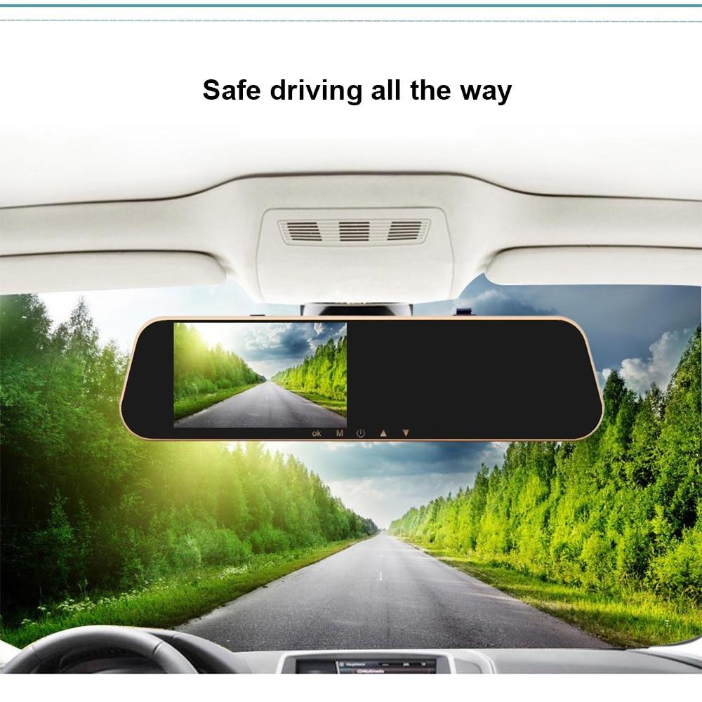 4,3 дюймов Full HD 1080P Автомобильный видеорегистратор зеркало заднего вида видеорегистратор двойной объектив с камерой заднего вида Авто регис