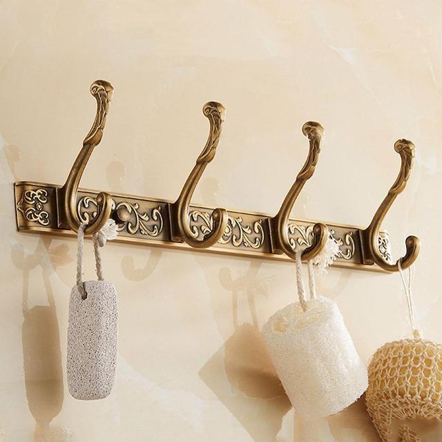роскошная настенная вешалка для ванной 5 ряд крючков крючок фотография