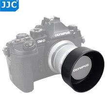 JJC LH J40B 黒銀 Pro レンズフードの Shade オリンパス M. ZUIKO DIGITAL 45 ミリメートル 1:1。 8 レンズ置き換えオリンパス LH 40B レンズフード