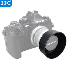 JJC LH J40B siyah gümüş Pro Lens Hood gölge Olympus M. ZUIKO dijital 45mm 1:1. 8 Lens yerine Olympus LH 40B Lens Hood