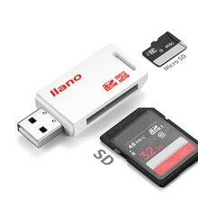 Lector de tarjetas USB 2,0 SD/Micro SD TF OTG adaptador de tarjeta de memoria inteligente para portátil USB 2,0 tipo C lector de tarjetas SD