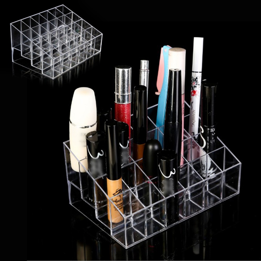 24-Grid-Acrylic-Makeup-Organizer-Storage-Box-Cosmetic-Box-Lipstick-Jewelry-Box-Case-Holder-Display-Stand