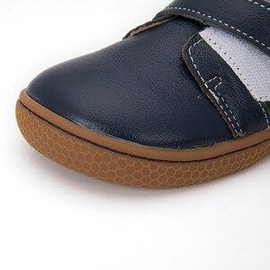 Image 3 - Фирменная кожаная обувь для детей, девочек, мальчиков, босинки, повседневные кроссовки для малышей, размер 25 35 #