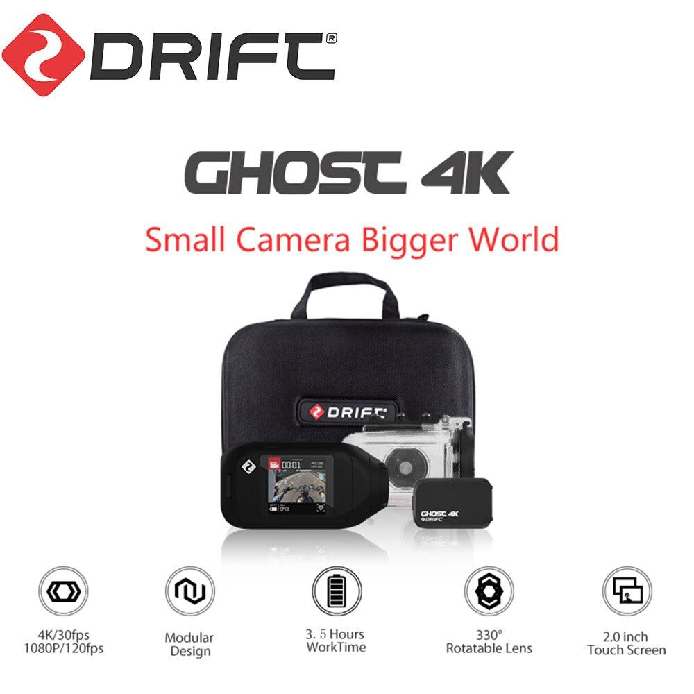Drift Ghost 4K versión de la motocicleta Cámara de Acción Ambarella deportes Mini brazo de la Cámara 12MP CMOS EIS lente rotativa WiFi Live streaming