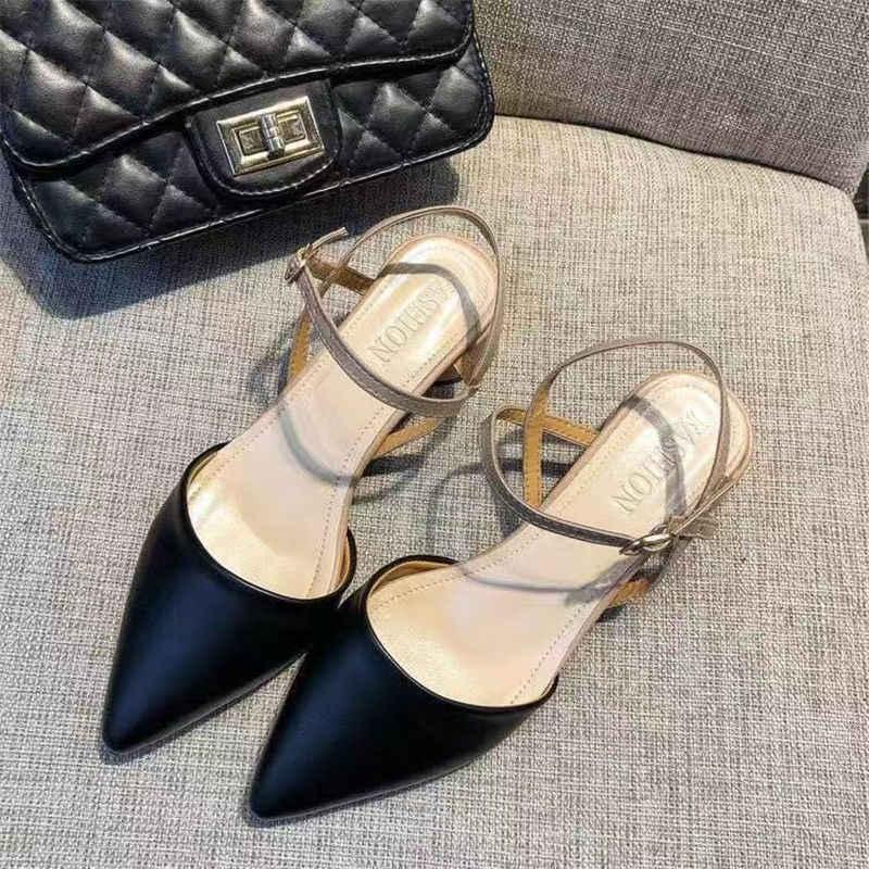 Zanpace platformu kadın sandalet bahar toka askı alçak topuklu ayakkabılar kadınlar için ayak bileği kayışı topuklu yaz moda Platform ayakkabılar