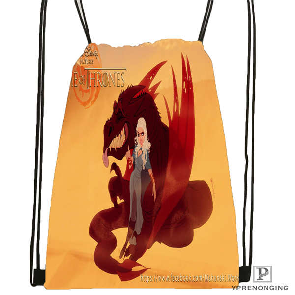 Custom Game-of-thrones-khaleesi@1  Drawstring Backpack Bag Cute Daypack Kids Satchel (Black Back) 31x40cm#2018611-217