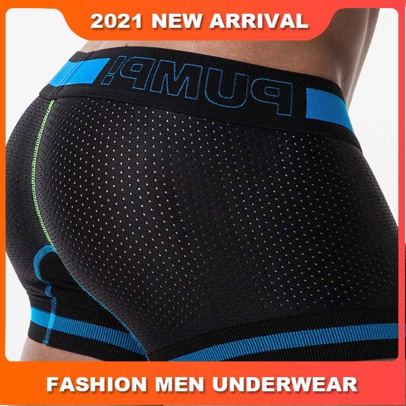 Cotton Solid Sexy Man's underwear Boxer Shorts Quick Dry Fashion Mens Boxershorts Underware Boxers Transparent Underpants Cuecas