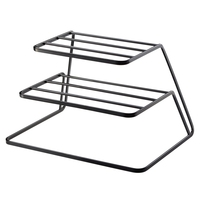 ABSS-2 Tier Dish Rack Stainless Steel Kitchen Dish Drainer Cup And Dish Organizer