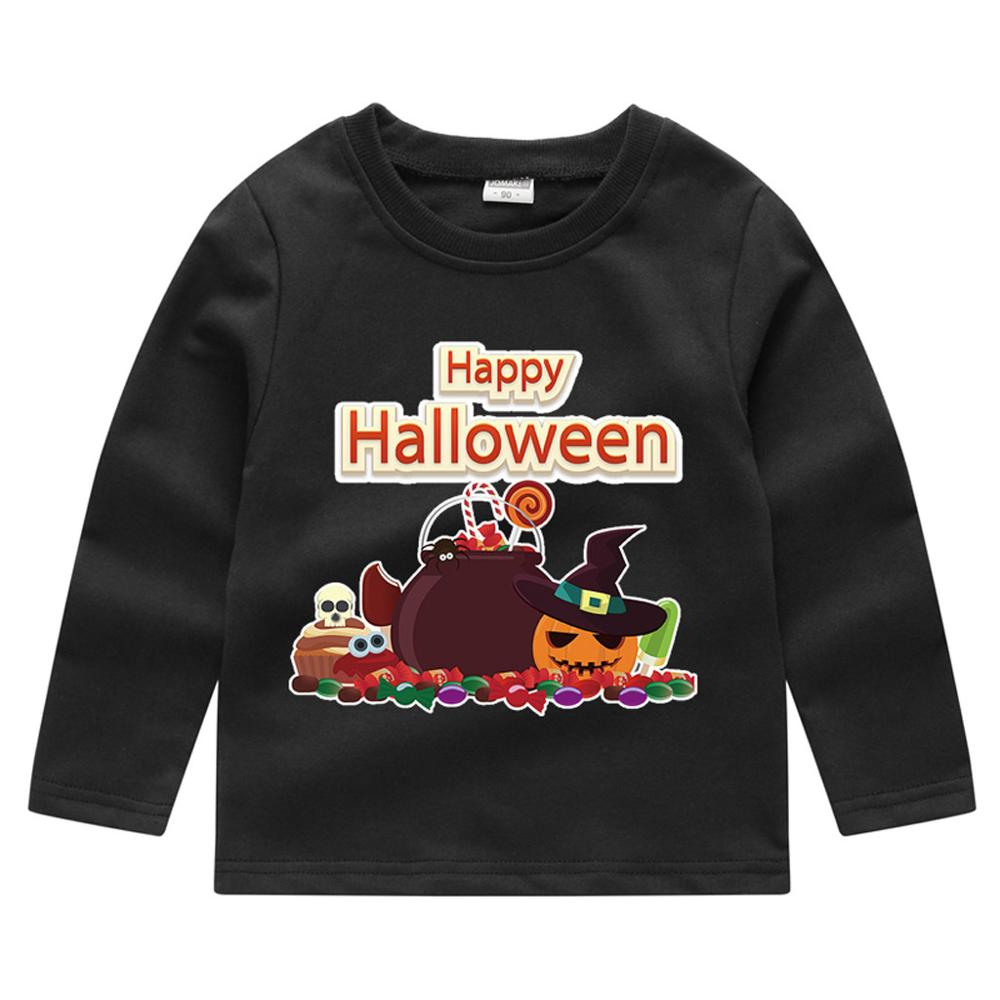 T-Shirt Pullover Halloween Toddler Girls Baby Boys Kids Fashion Children Autumn Pumpkin