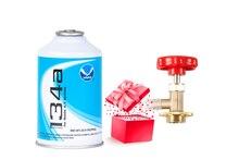 R134a, eine spezielle kältemittel für auto klimaanlage wartung, nettogewicht 300g, hohe reinheit 99.9%, senden flasche opener