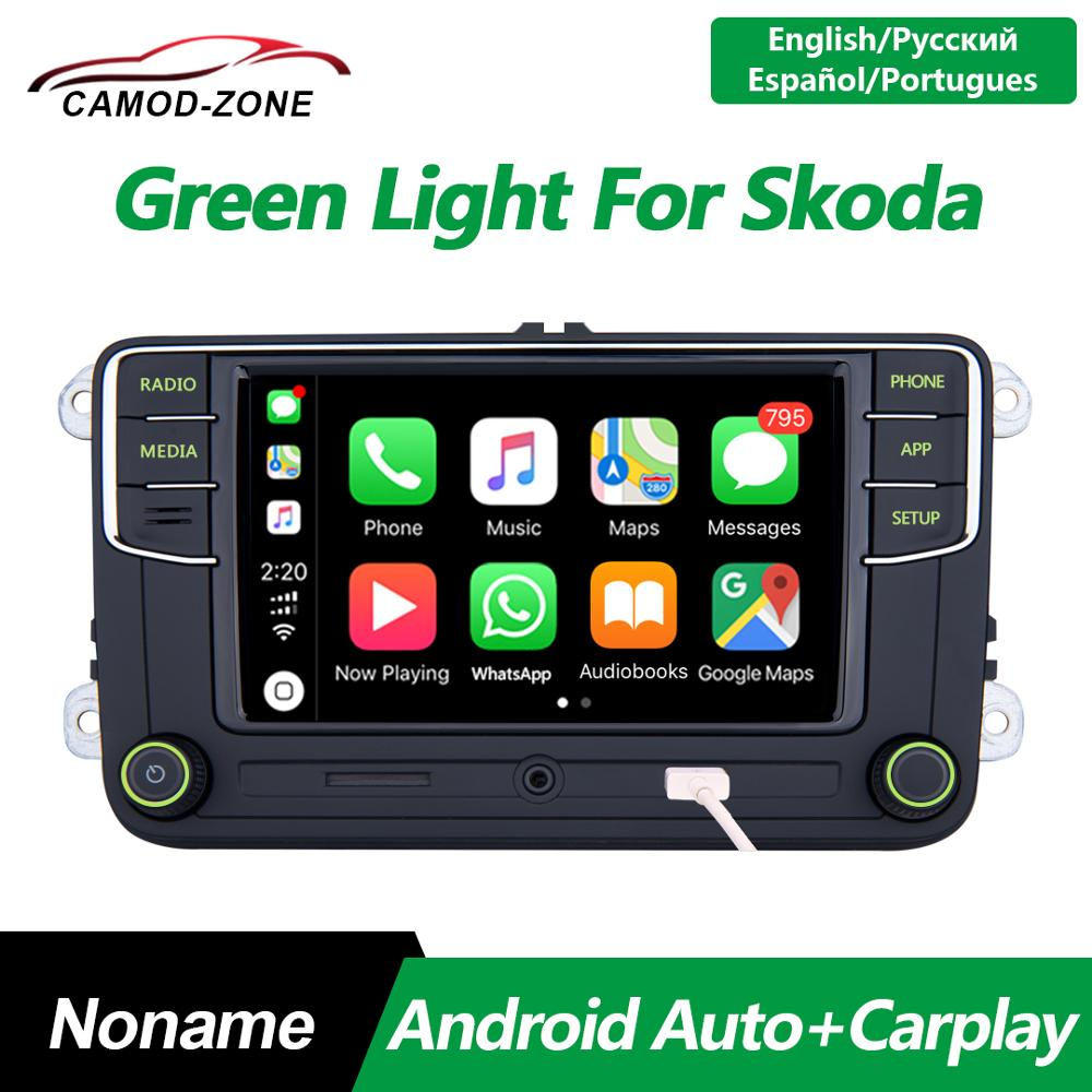 <font><b>RCD330</b></font> Plus RCD330G Green Light Carplay <font><b>Noname</b></font> Android Auto MIB Car Radio 6RD 035 187B For VW Skoda Octavia Fabia Superb Yeti image