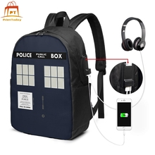 Tardis Doctor Who Backpack Tardis Doctor Who Backpacks High quality Multifunction Bag Men - Women Sports Bags printio bad wolf doctor who