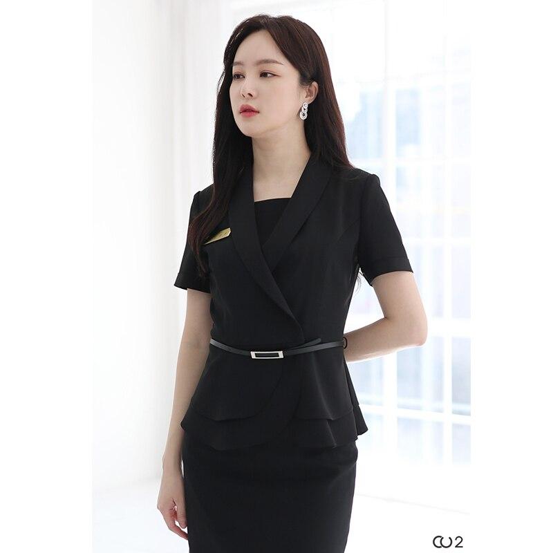 Professional dress dress suit beauty salon work clothes women fashion beautician hotel manager formal dress summer