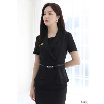 Professional dress dress suit beauty salon work clothes women fashion beautician hotel manager formal dress summer - DISCOUNT ITEM  0 OFF All Category