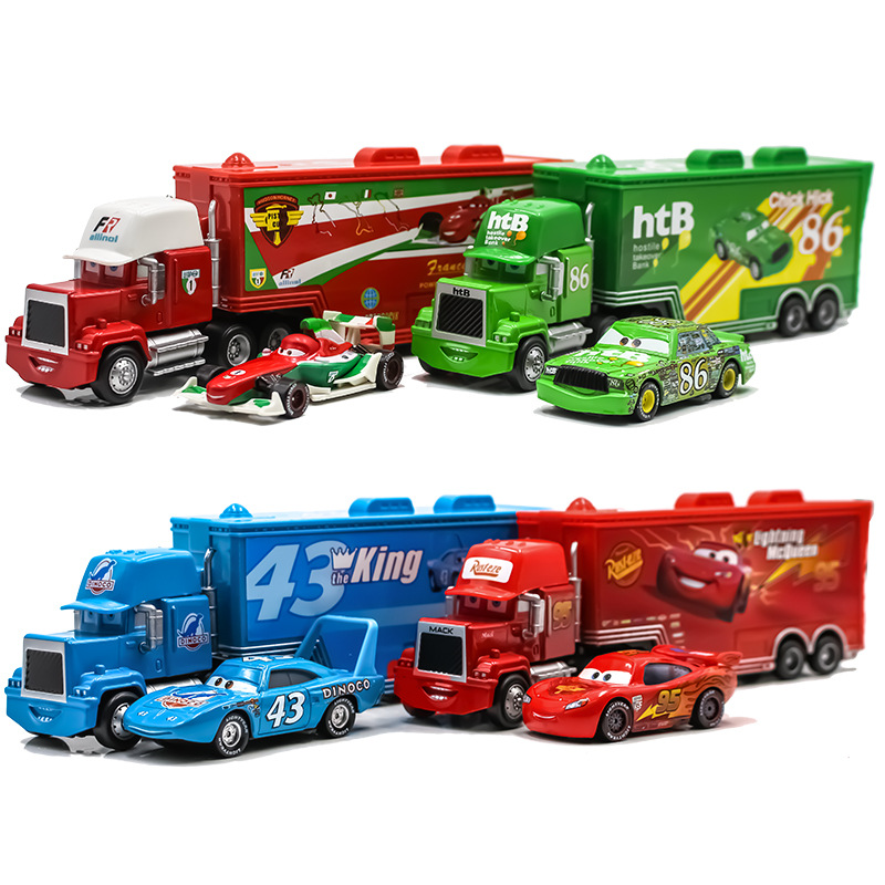 Disney Pixar Cars 3 Toys Car Set Lightning McQueen Mack Uncle Truck Rescue  Collection 1:55 Diecast Model Car Toy Children Gift|Diecasts & Toy Vehicles|   - AliExpress