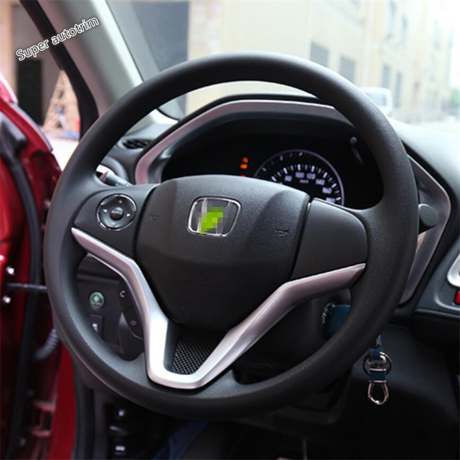Lapetus Inner Steering Wheel Frame Cover Trim Fit For Honda Vezel HR-V 2014 - 2019 Accessories Interior ABS Matte / Carbon Fiber