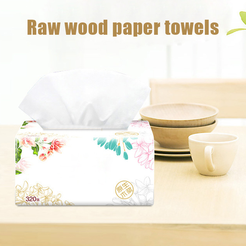 3 Packs Soft Pure Facial Tissues Paper Napkins Household Office Paper Towels BMF88