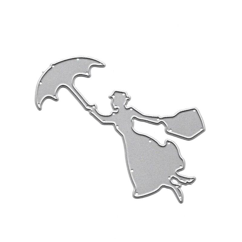 Umbrella Dancer Scrapbook Cutting Dies Metals Die Cuts For Diy ScrapbookingDecor