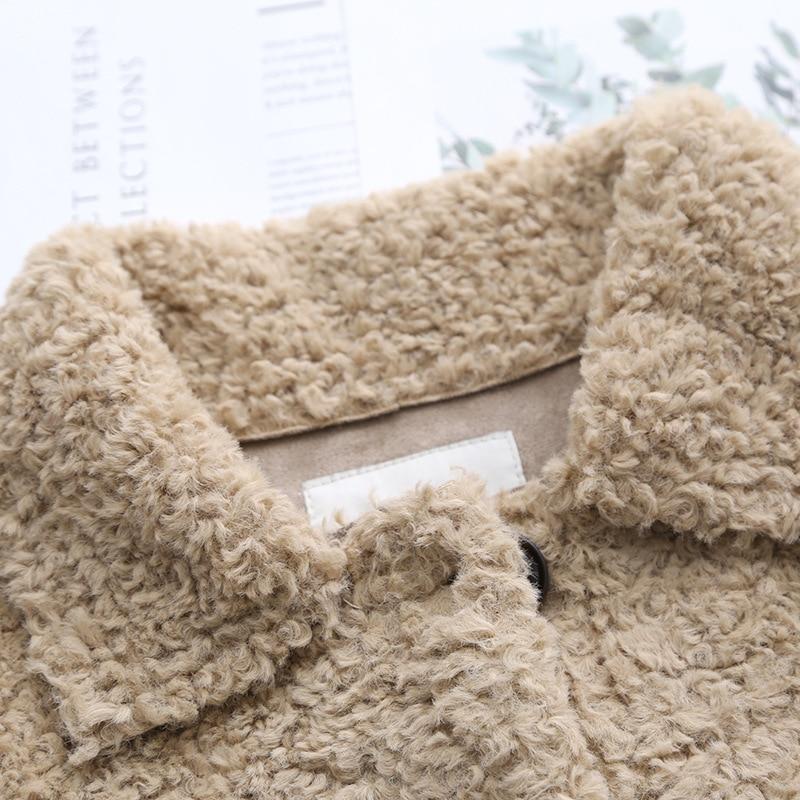 Chaquetas de lana de cordero grueso coreano ropa de mujer chaqueta de invierno Vintage de talla grande abrigo femenino chaquetas de mujer tapas Ll006 - 6