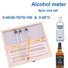 Alcohol-Meter Whisky Vodka Spirits for Liqour 3pcs/Set