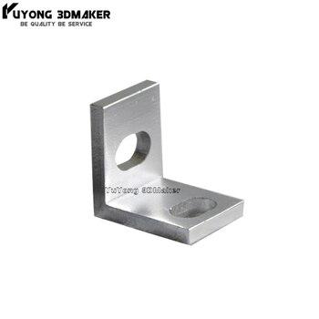 100Pcs/Lot Wholesale Smooth single Universal L corner bracket for V-slot/T-slot extrusions  3D Printer CNC Engraving Machine