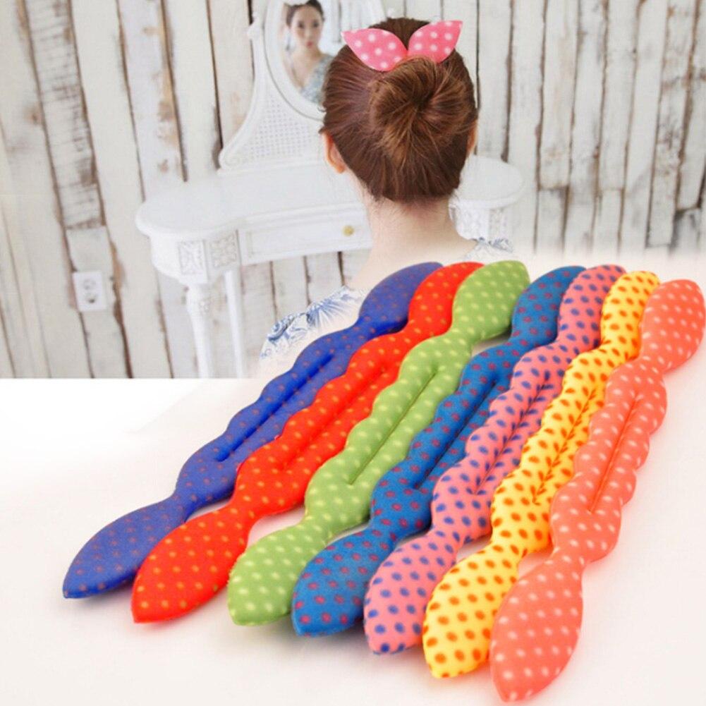 Fashion Rabbit Ear Magic Hair Styling Sponge Clip Foam Bun Curler Hairstyle Twist Maker Tool Dount Hair Accessories Women Cute