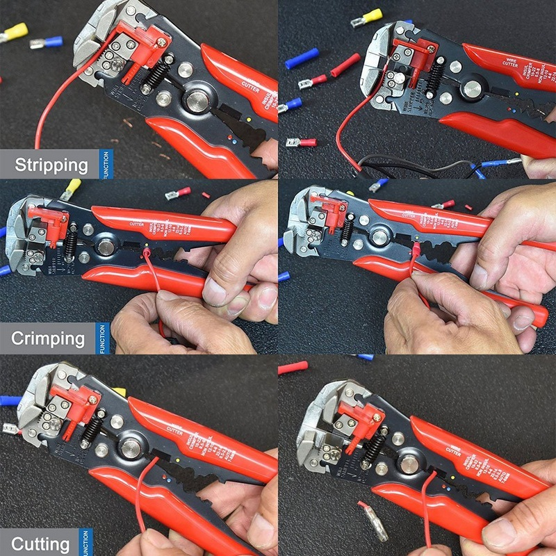 Купить с кэшбэком Multi-functional Wire Stripper Cable Pliers Cutter Crimper Automatic Crimping Stripping Plier Terminal Hand Tools