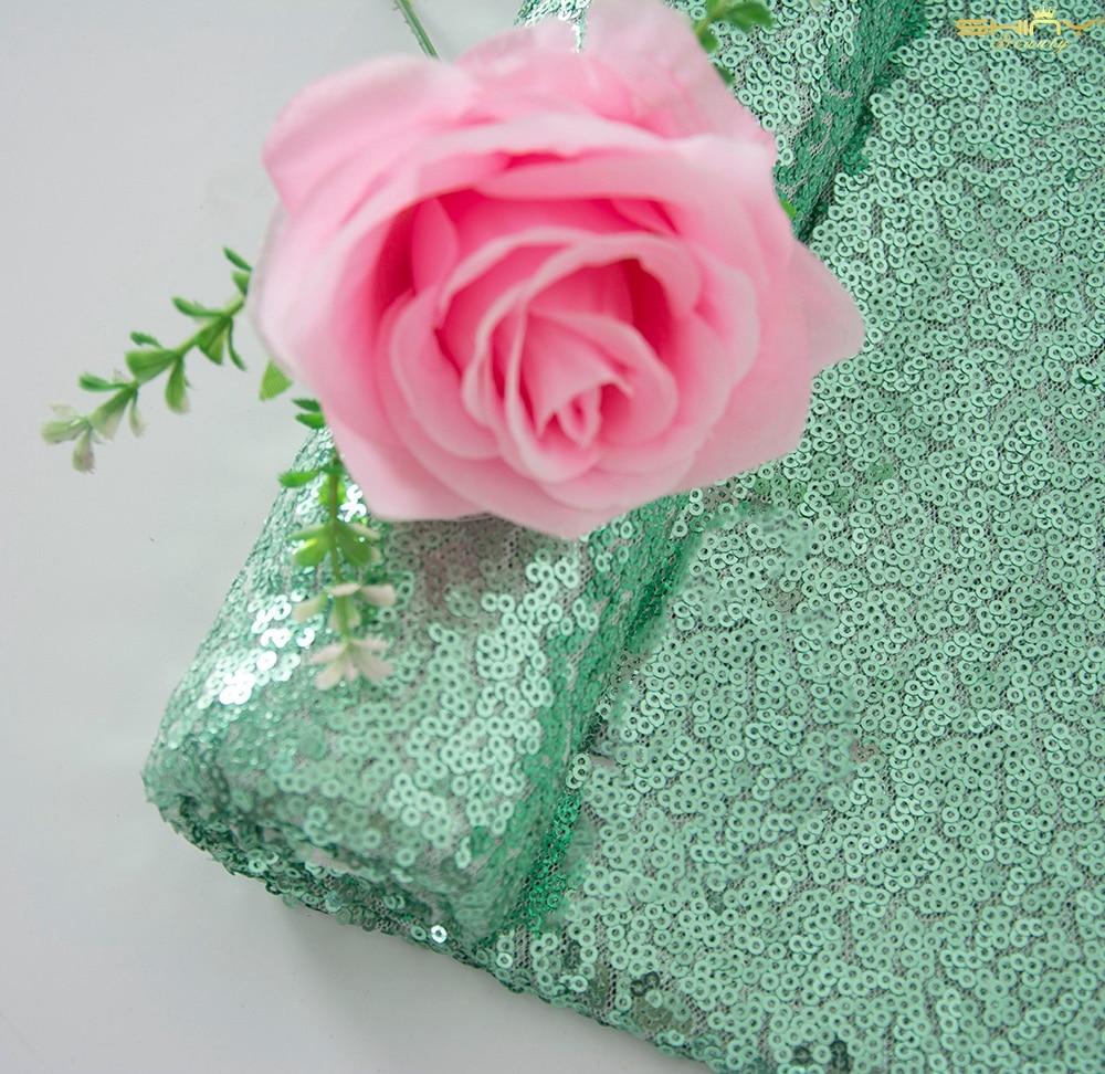 3mm Glitter Sequin Fabric Light Green Sequins Fabrics Handmade Materials For Dress Sewing-M191010