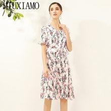 Модельное повседневное летнее платье miuximao 2020 женское винтажное