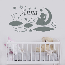 Girls Name Wall Decal Nursery Room Decor Sticker Custom Home Cartoon Cute living Vinyl  LW485