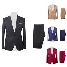 Formal Mens Suits with Pants Men's Blazer  Wedding Male Groom Tuxedos suit Prom (Jacket+Pants) costume homme