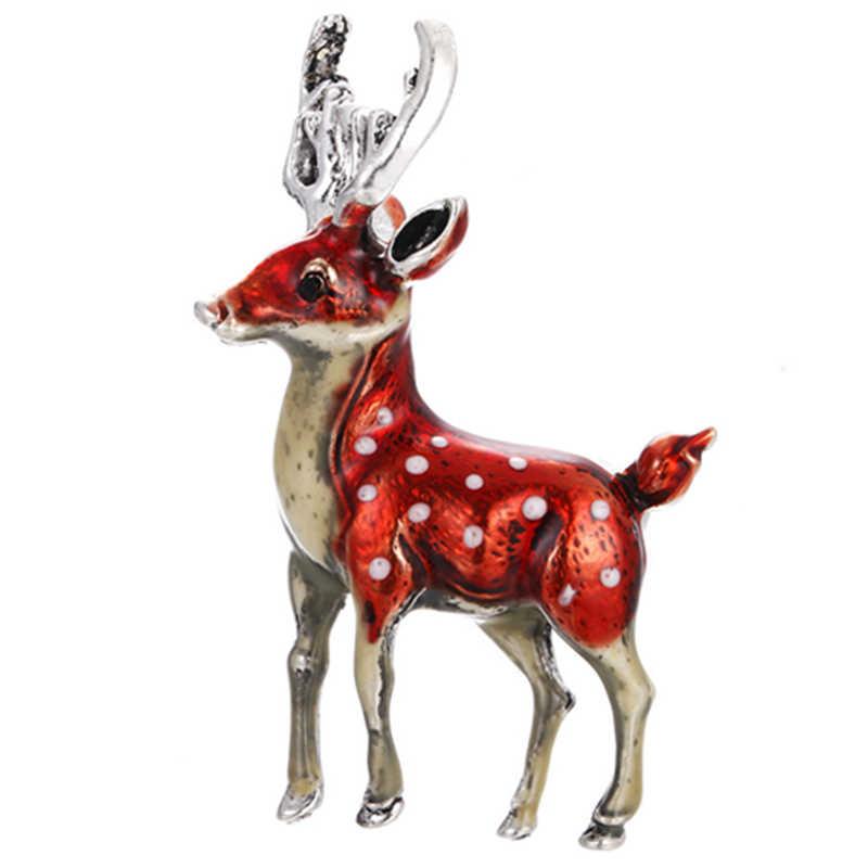 3 цвета милые маленькие олени лося формированные Броши для женщин девочек Брошь булавка в виде животного Пальто Аксессуары Рождественский подарок на Новый год ювелирные изделия