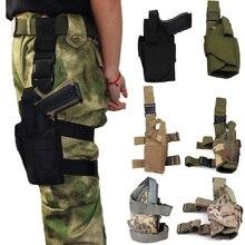 Tactical Left/Right Glock Gun Drop Leg Holster Pouch For Beretta Airsoft Pistol Thigh Universal Case